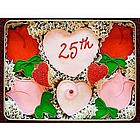 25th Anniversary Sugar Cookie Gift Tin