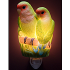 Peach Faced Love Birds Night Light