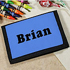 Kid's Custom Printed Name Velcro Wallet