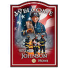 A Hero's Welcome Personalized Firefighter Sign
