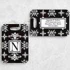 Damask Personalized Luggage Tag Set
