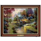 Thomas Kinkade Stillwater Cottage Illuminated Canvas Print