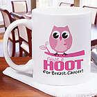 Give a Hoot Breast Cancer Awareness Mug
