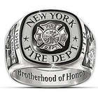 Firefighter's Personalized Brotherhood of Honor Ring