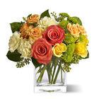 Citrus Splash Bouquet with Glass Vase