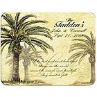 Personalized Ivory Palms Glass Cutting Board