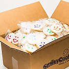Case of 40 Individually Wrapped Nut Free Mini Smiley Cookies