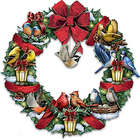 Merry Melodies Lighted Songbird Wreath