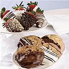 4 Dipped Cookies and 6 Fancy Berries