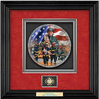 Personalized Commitment to Courage Shadowbox Firefighter Plate