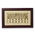 Personalized Grandparent Scissor Art Print