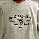 Personalized Fishing Buddies Shirt with Kids Names