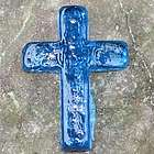 Hope Glass Aqua Pocket Cross