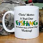 Personalized Bad Day Fishing Coffee Mug