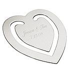 Engraved Wedding Heart Bookmark