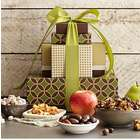 Fruits and Nuts Gift Tower with Personalized Ribbon