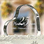 Personalized Anniversary Heart Cake Topper