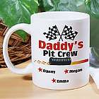 Personalized Pit Crew Coffee Mug