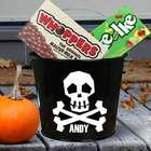 Personalized Skull Halloween Bucket