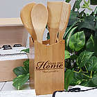 Engraved Bless Our Home Kitchen Utensil Set