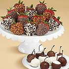 Chocolate Covered Cherries and Strawberries Gift Box