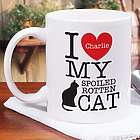 Personalized I Love My Spoiled Cat Mug
