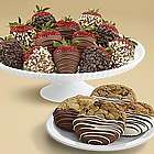 Chocolate Dipped Cookies and a Dozen Milk and Dark Strawberries
