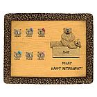 Personalized Chiropractor Retirement Bear Plaque