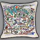 Hand Embroidered Wisconsin Accent Pillow