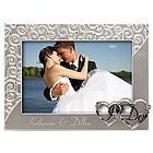 Personalized Silver 'I Do' Wedding Picture Frame