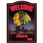 Chicago Blackhawks Personalized Welcome Sign