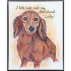 Personalized Love, Love, Love Dog Breed Print