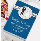 Personalized Bride & Groom Playing Card Wedding Favors