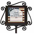 Personalized Patriotic Ceramic and Iron Garden Stake