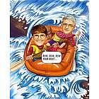Rafting Personalized Caricature Art Print