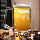 Just For You 25 oz. Personalized Beer Mug