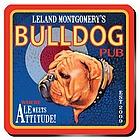 Personalized Bulldog Coaster Set