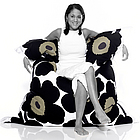 Marimekko Unikko Black Fatboy Bean Bag Chair