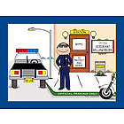 Personalized Police or Sheriff Law Enforcement Cartoon Print