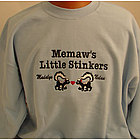 Personalized Little Stinkers Embroidered Shirts with Kids Names