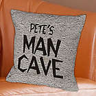 Personalized Man Cave Throw Pillow