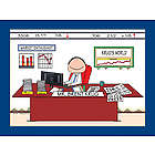 Personalized Financial Planner or Stockbroker Cartoon