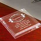 Personalized Congratulations Keepsake & Paperweight