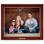 Custom Rendered Framed Canvas Print with Plaque