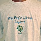 Little Squirts Personalized Embroidered Family Shirt