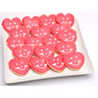 Mini Heart Shaped Smiley Cookies