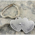 My Heartbeat Personalized Hand Stamped Key Chain or Necklace
