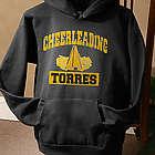 Personalized Sports Hooded Black Sweatshirt