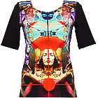 Meditation Art Digital Print Knit Top