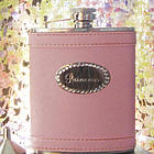 Personalized Pastel Pink Flask with Crystals
